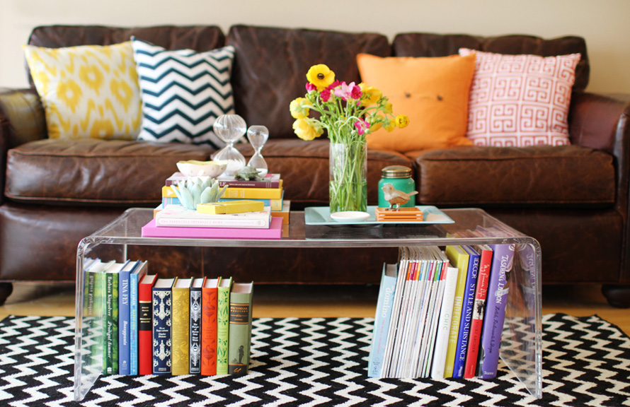 Bright Coffee Table Style