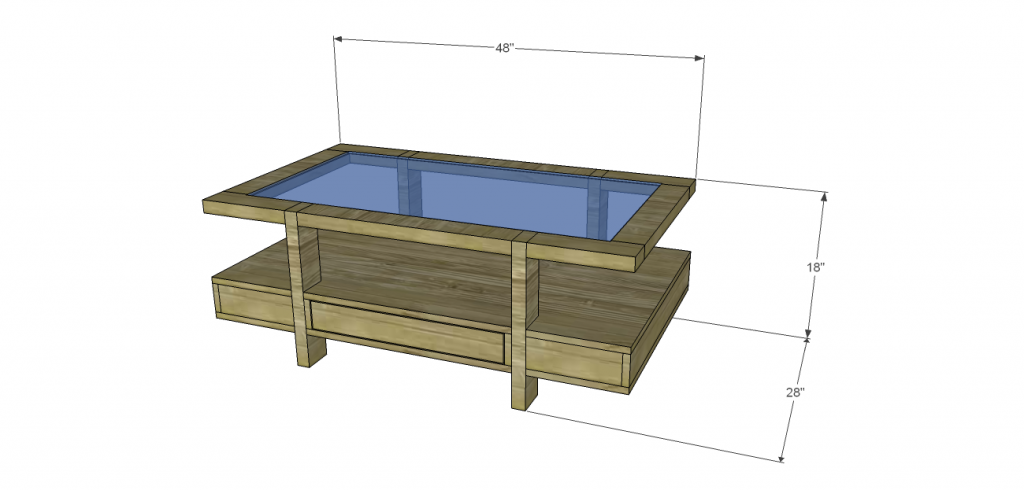 Coffee Table with Glass Top Plan