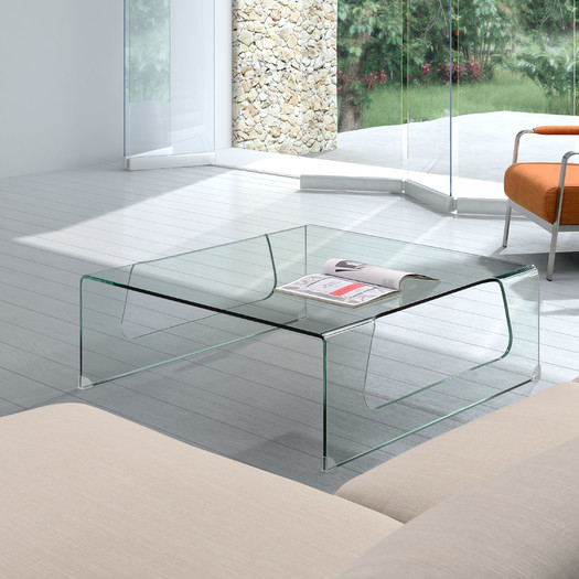 Contemporary Glass Coffee Table Decor