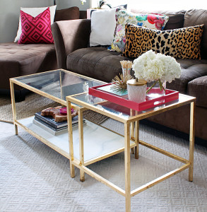 Easy Gold Ikea Glass Coffee Table