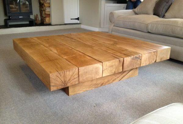 Easy Rustic Wood Coffee Table
