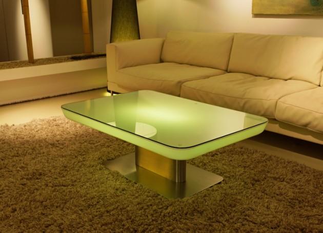 Elegant Led Coffee Table