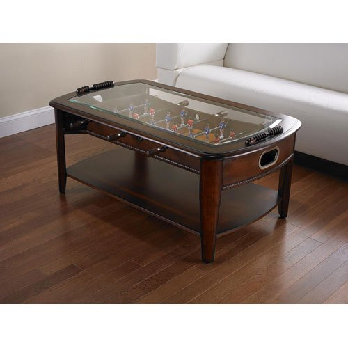 Foosball Coffee Table with Shelf