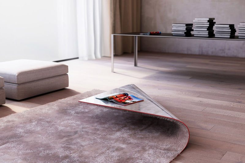 Ideas for Folded Carpet Coffee Table