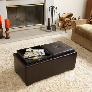 Leather Coffee Table Tray
