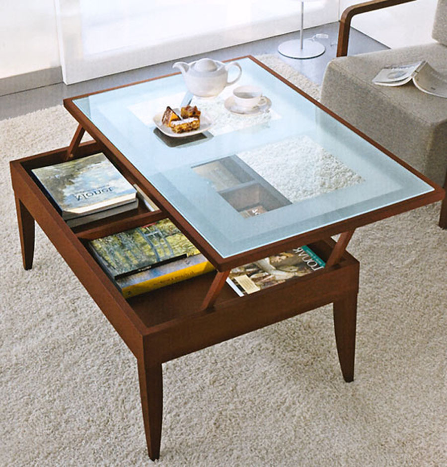 Lift Glass Top Coffee Table