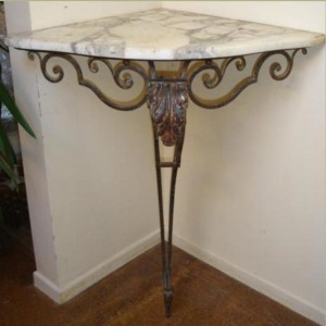 Marble Top Corner Table