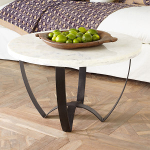 Marble-Top Wisteria Coffee Table