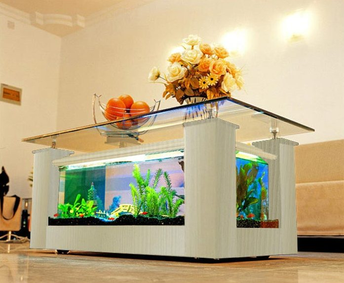 Modern Fish Tank Coffee Table Image And Description