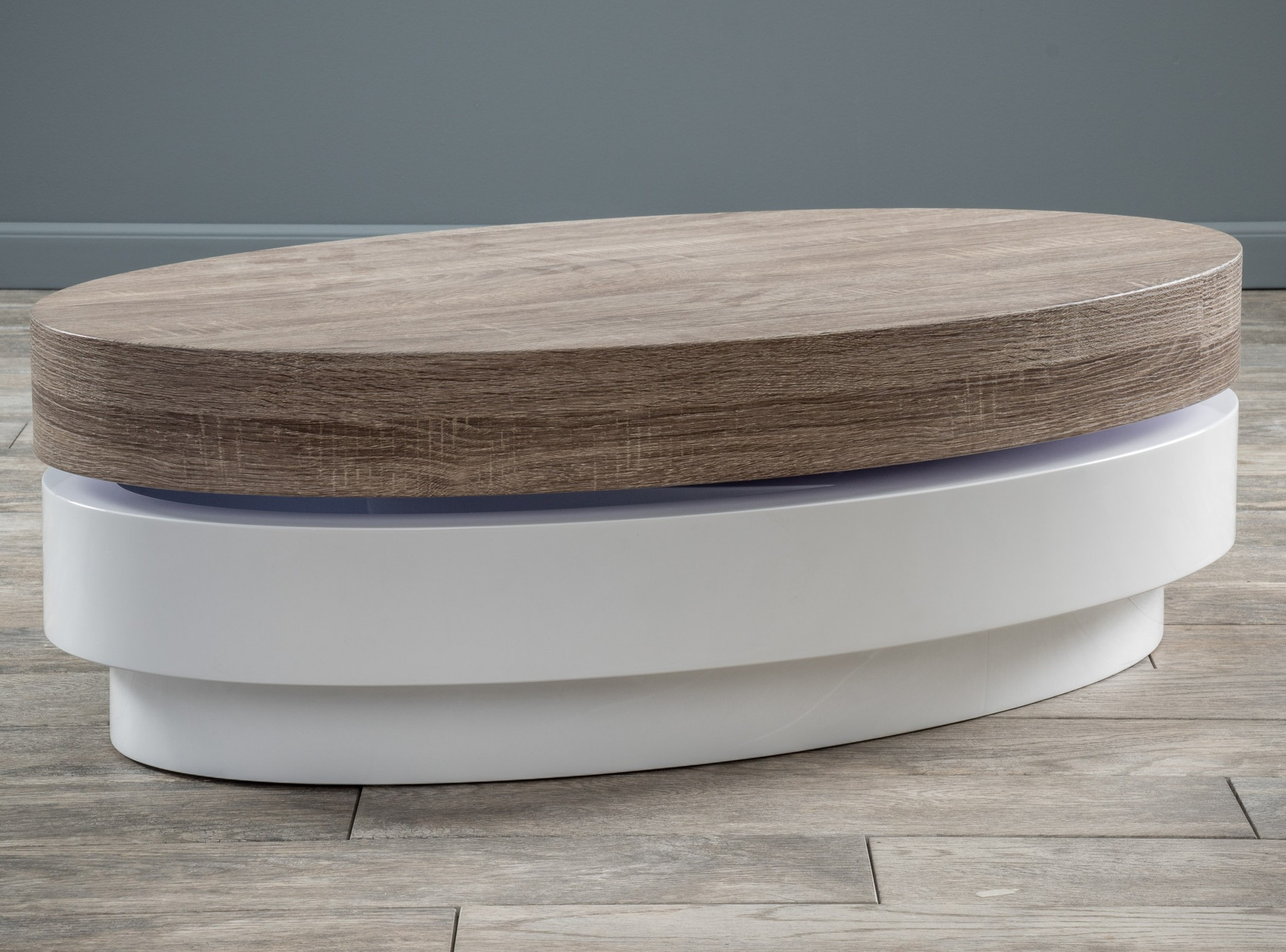 Oval Swivel Coffee Table