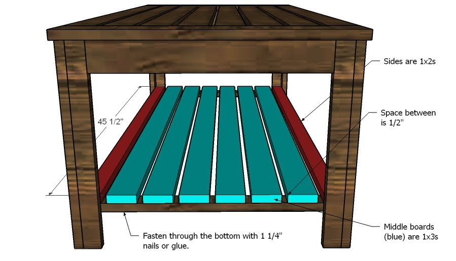 Plan for Outdoor Coffee Table