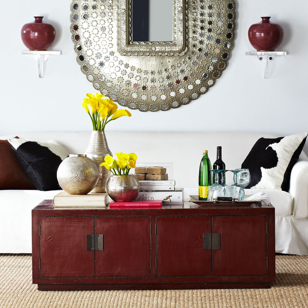 Red Chinese Wisteria Coffee Table