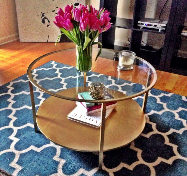 Round Ikea Glass Coffee Table