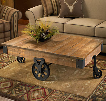 Rustic Coffee Table With Wheels Coffee Tables