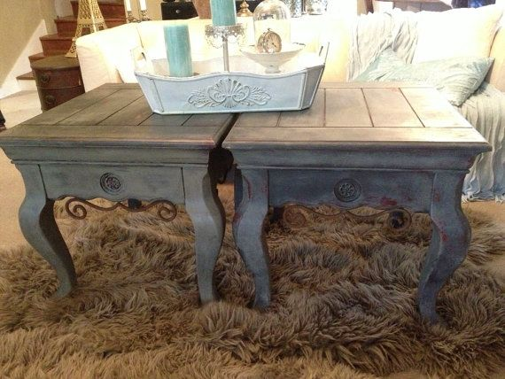 Rustic End Table French Style