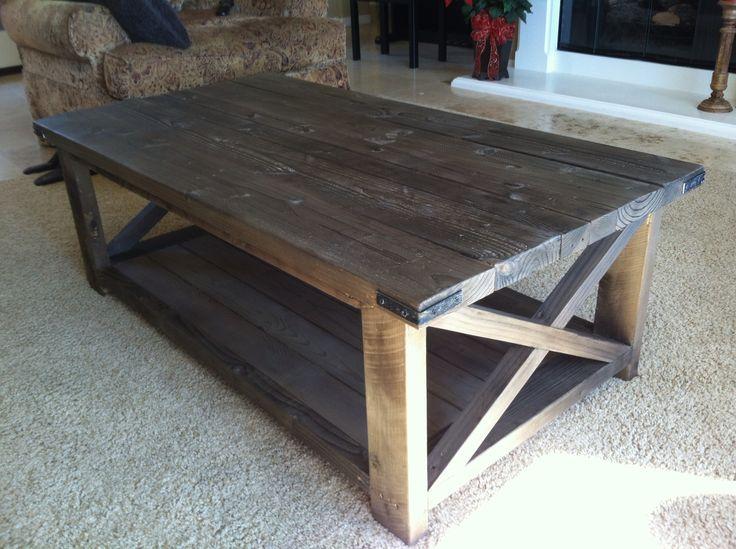 Rustic Wood X-Coffeetable