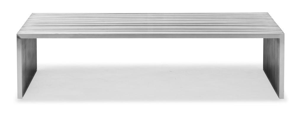 Silver Metal Coffee Table Idea