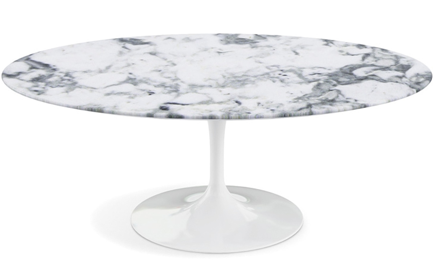 Simple Round Marble Coffee Table