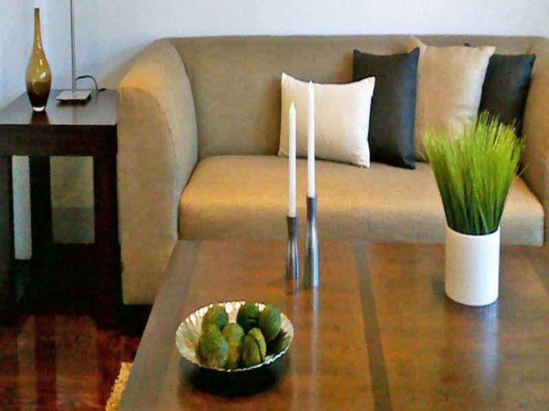 Thin Candles as Coffee Table Accessories