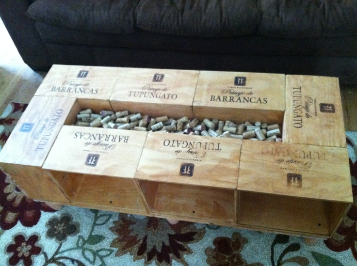 Wine Crate Coffee Table Tables
