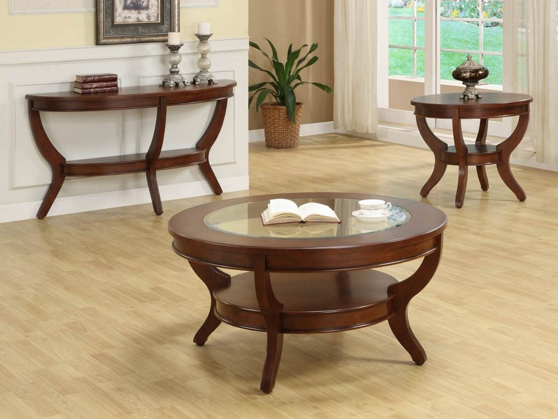 Cherry Wood Coffee Table Set | Coffee Tables