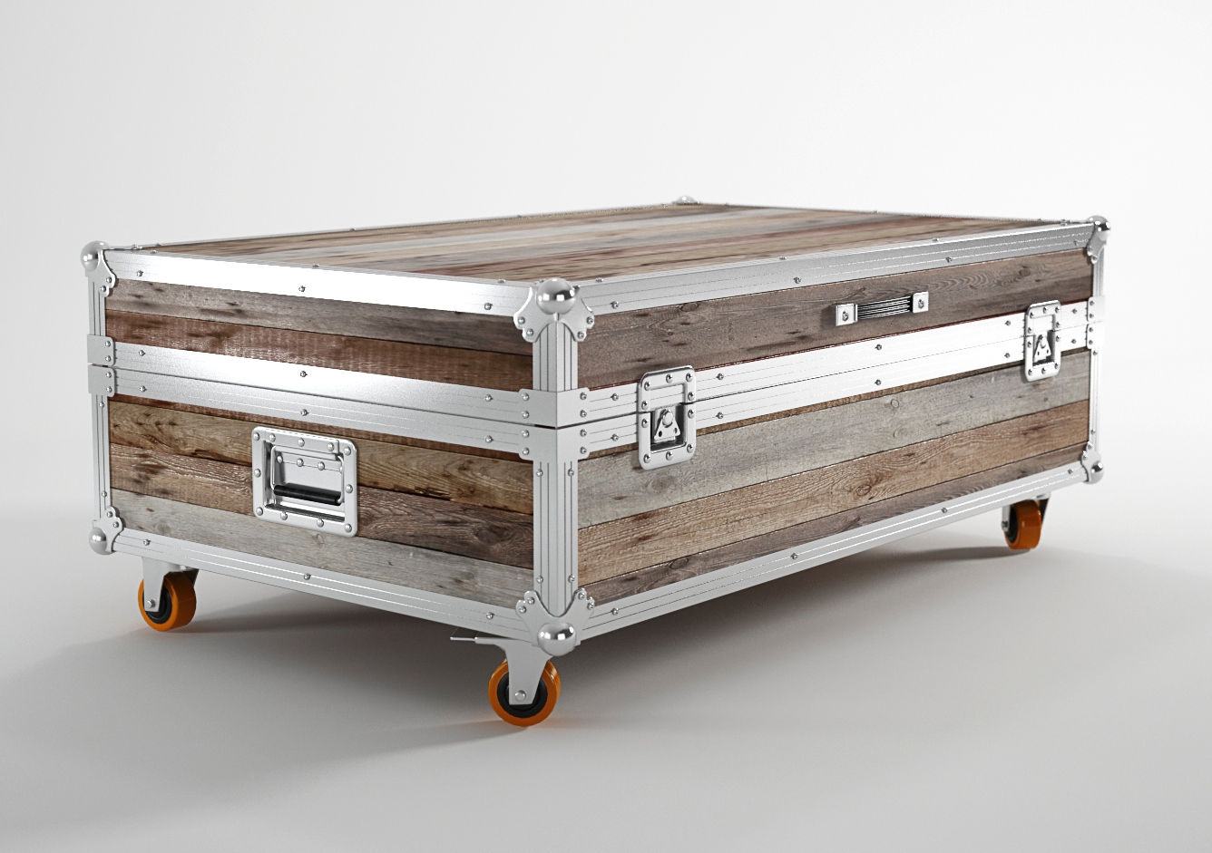 Chest Coffee Table with Wheels