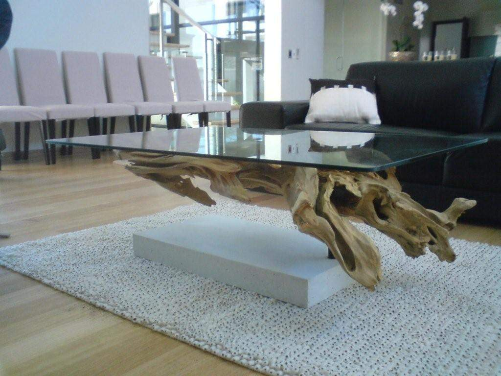 Driftwood Coffee Table.Intricate Coffee Tables Made Of Driftwood Or Root