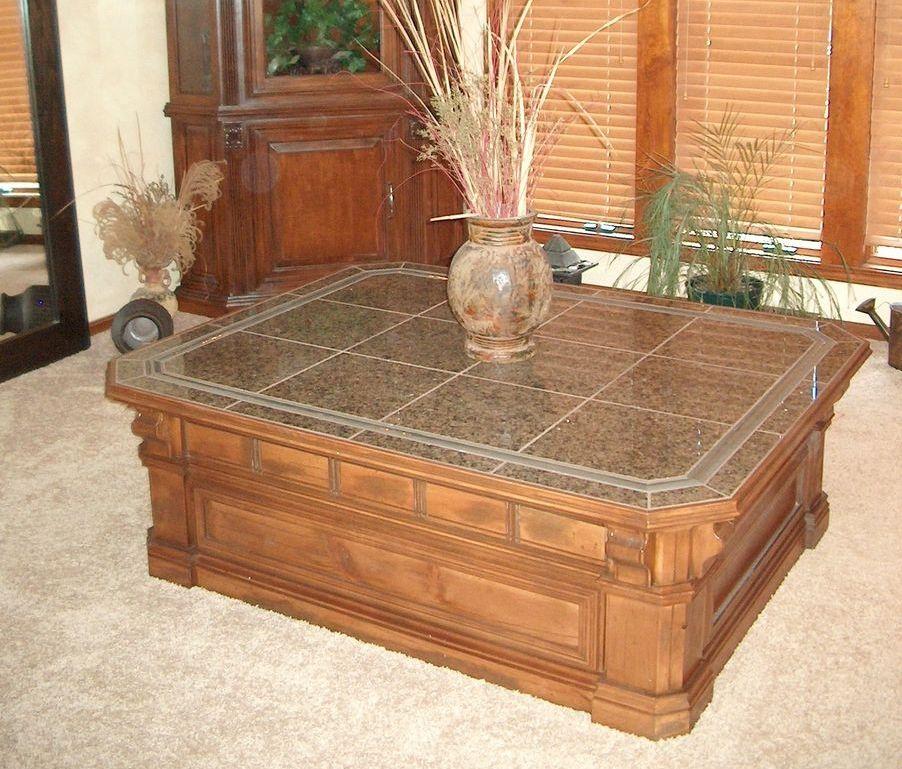 Massive Base Granite Coffee Table