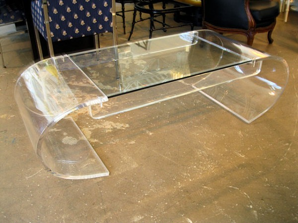 Modern Lucite Coffee Table Image And Description