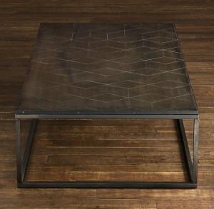 Restoration Hardware Metal Parquet Coffee Table