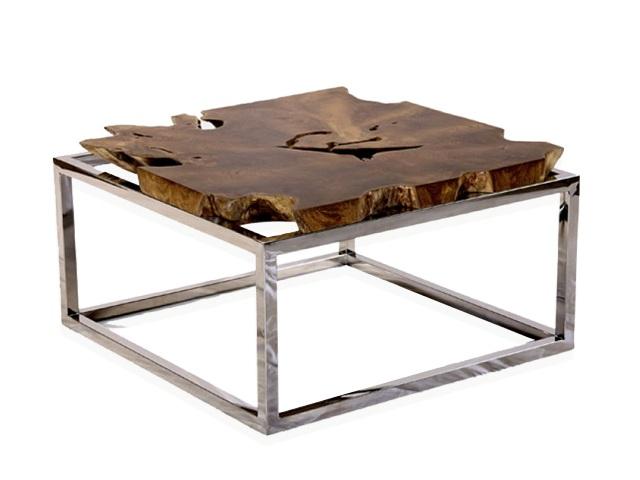 Sliced Teak Root Coffee Table