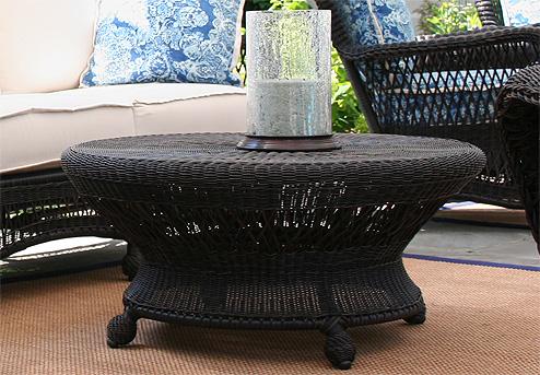 Black Wicker Coffee Table CoffeTable