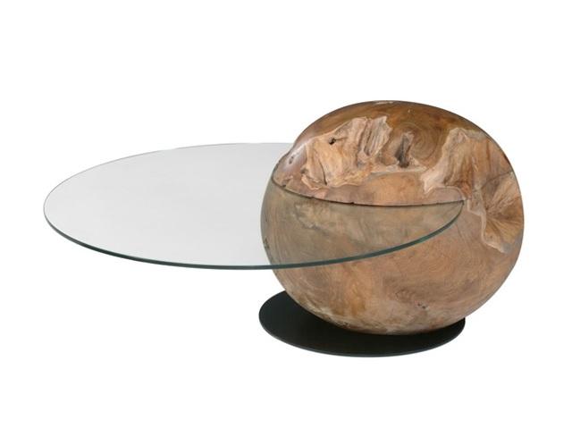 Teak Orb Coffee Table