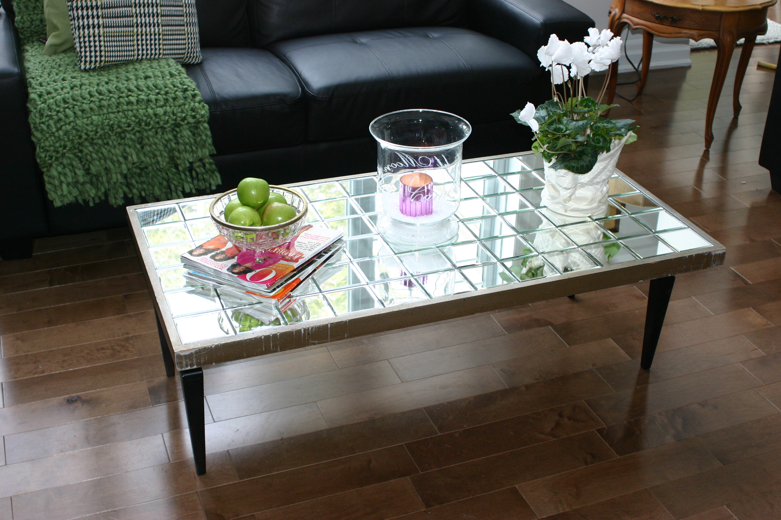 Tiled Mirrored Coffee Table