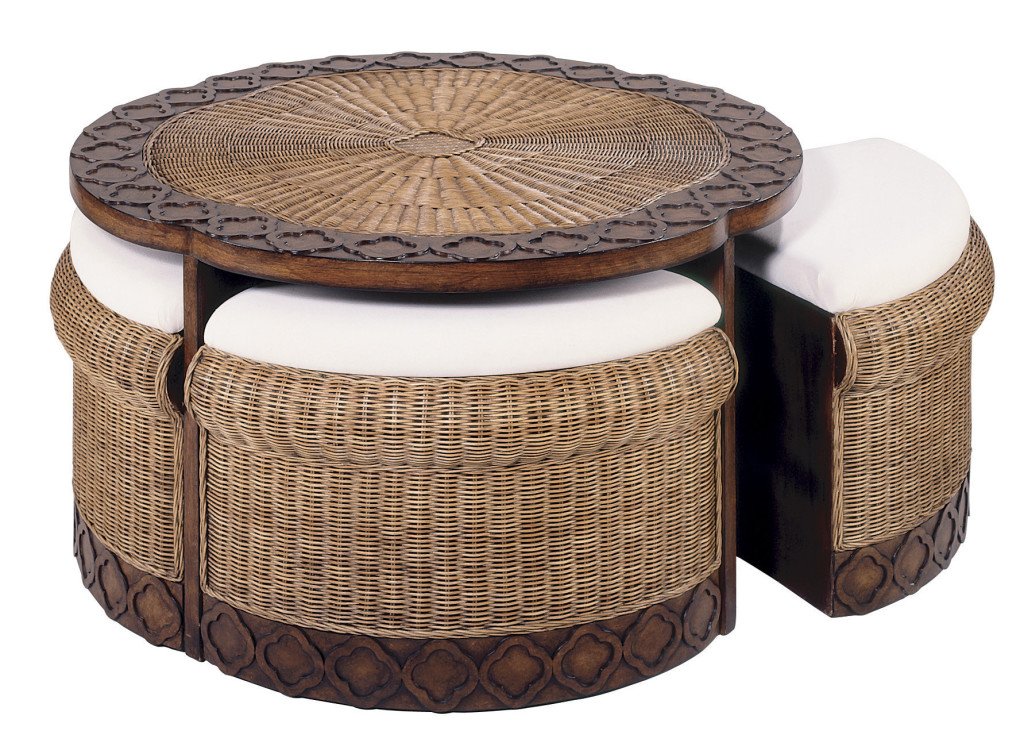 Wicker Coffee Tables With Ottomans