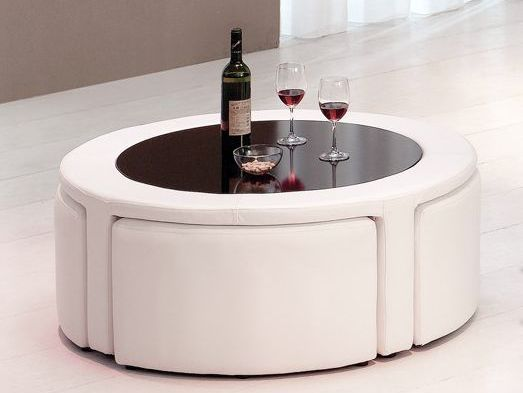 Coffee Table with Hidden Stools