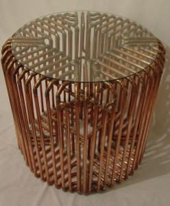 Copper Tube Coffee Table