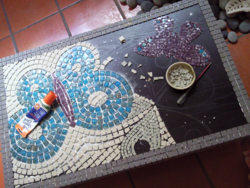 DIY Mosaic Coffee Table Coffee Tables