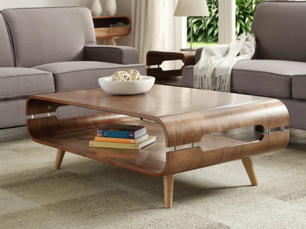 Extraordinary Walnut Coffee Table