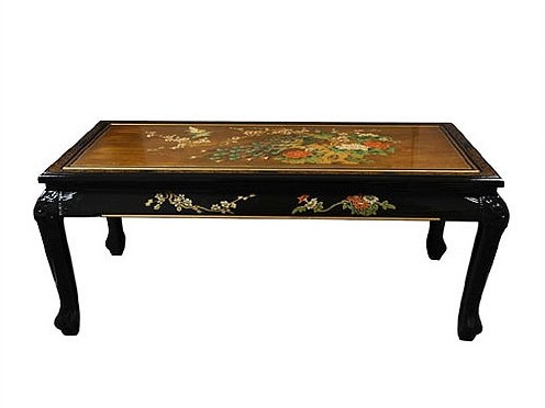 Hand Painted Asian Coffee Table
