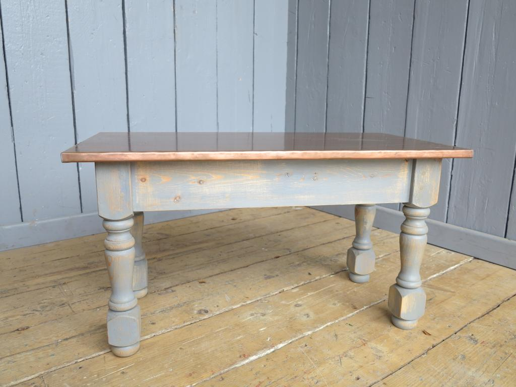 Heavily Distressed Copper Coffee Table