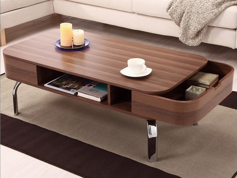 Modern Coffee Table With Hidden Drawers