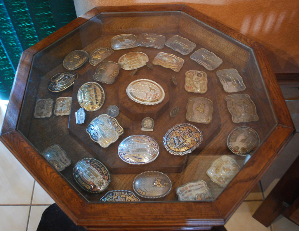 Octagon Glass Display Coffee Table