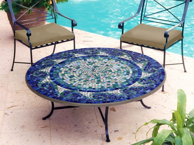 Outdoor Mosaic Coffee Table
