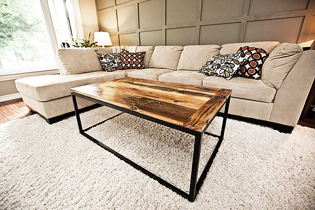 Reclaimed Wood Box Frame Coffee Table