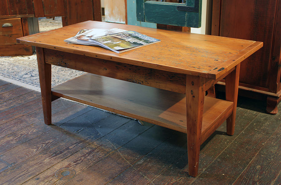 Antique Pine Coffee Table Image And Description