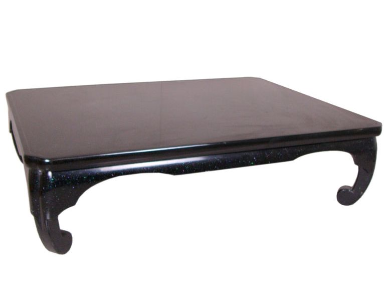 Black Lacquer Coffee Table Asian Style