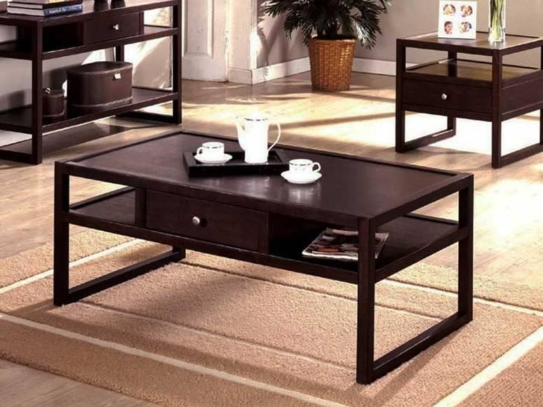 Espresso Coffee Table Set Image And Description