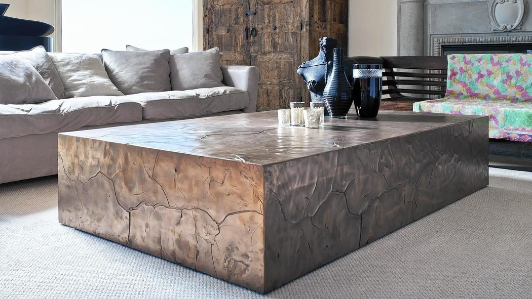 Oversized Coffee Table in Antique Style