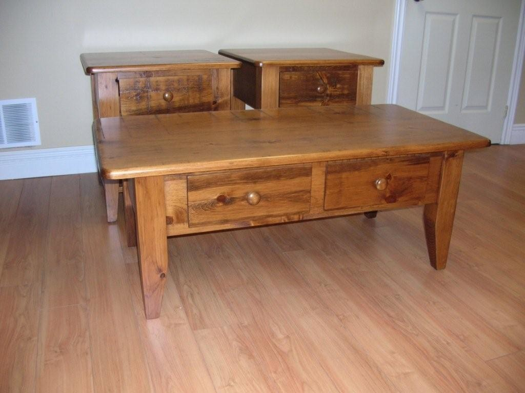 Pine Coffee Table Set
